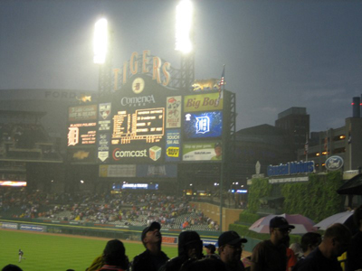 The Scoreboard in the Rain