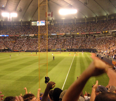 Fans Celebrate a Homerun at the Metrodome
