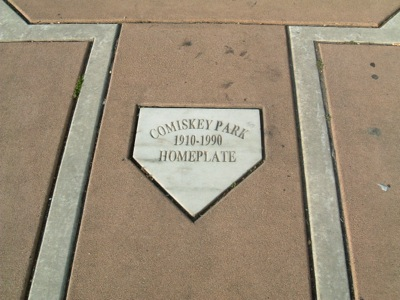 The Original Home Plate of Comiskey Park